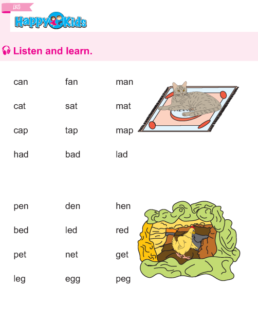 Kindergarten English Listen and Learn