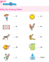 Kindergarten English Write The Missing Letters