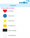 Kindergarten English Shapes, Trace, Match and Write