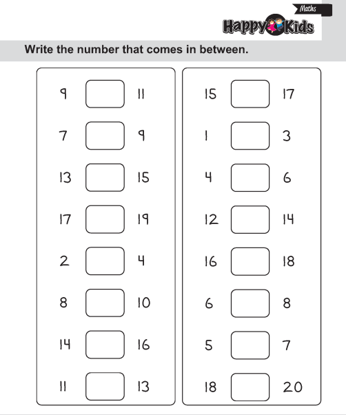 Kindergarten Maths Number In Between, After And Before | Preschool ...