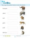 Kindergarten Science Land Animals