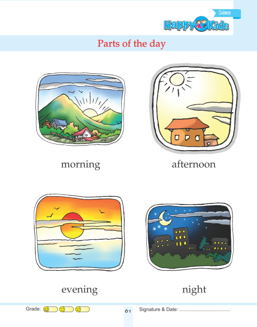 Kindergarten Science Parts Of The Day : Preschool and ...