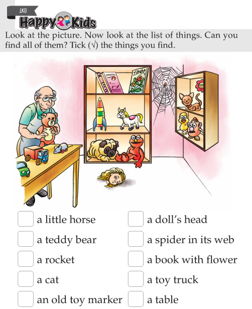 Kindergarten Skill Find Things In Picture