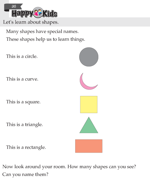 Kindergarten Skill Shapes And Colours