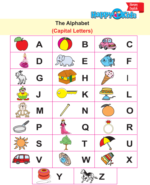 Preschool English Capital and Small Alphabet