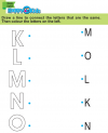 Preschool English Exercise and Activities K to O