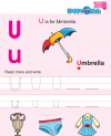 Preschool English Reading and Writing U to Z