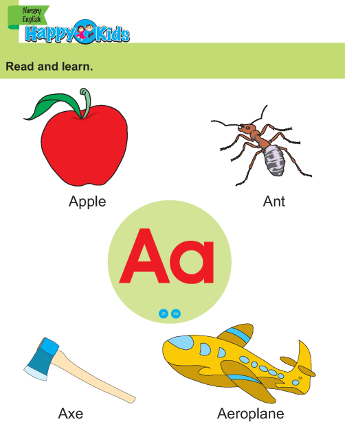 Preschool English Read and Learn Capital and Small Alphabet