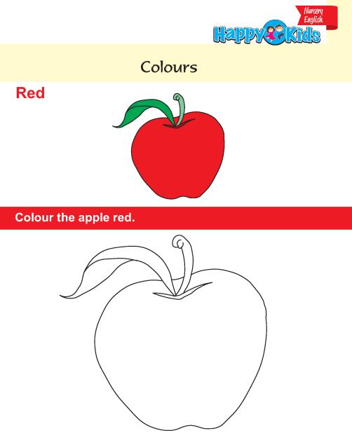 Preschool English colours