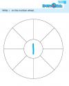 Preschool Number Wheel Exercise 1 to 10