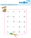 Preschool Number Connect The Numbers From 11 to 20
