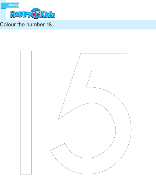 Preschool Number Colour The Number Exercise