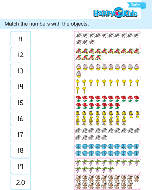 Preschool Number Match Exercise