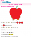 Kindergarten English The Ants And The Apple