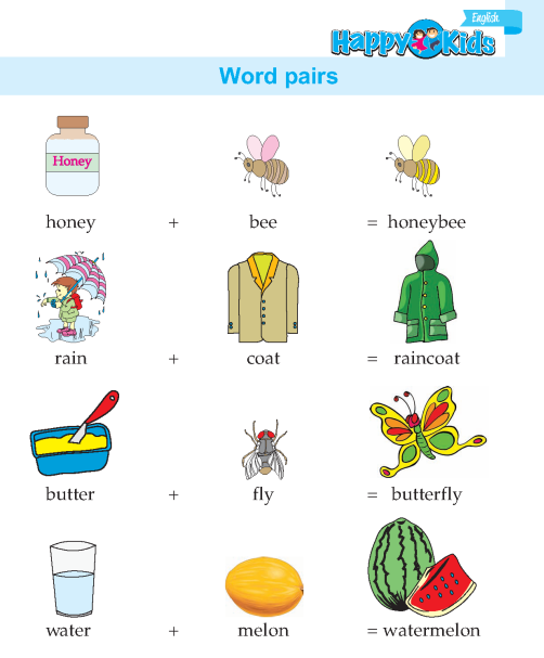 Kindergarten English Word Pairs