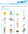 Kindergarten English Rhyming Words