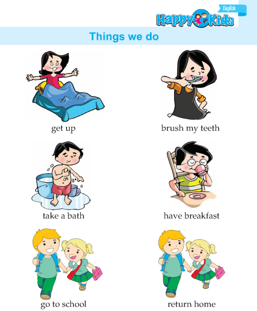 Kindergarten English Things We Do