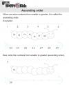 Kindergarten Maths Ascending / Descending