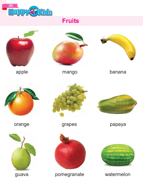 Kindergarten Science Fruits
