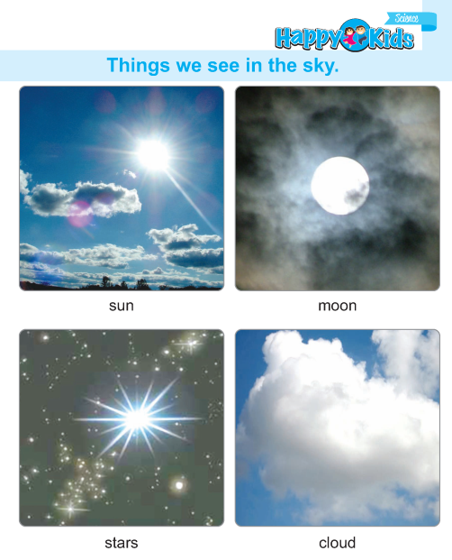 Kindergarten Science Things We See In Sky