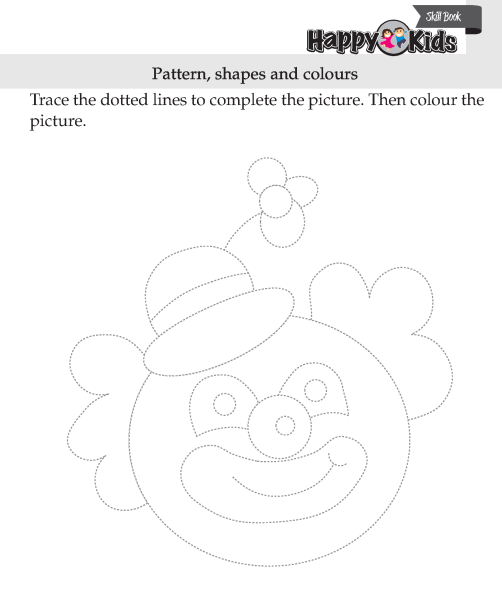 Kindergarten Skill Pattern, Shapes and colours