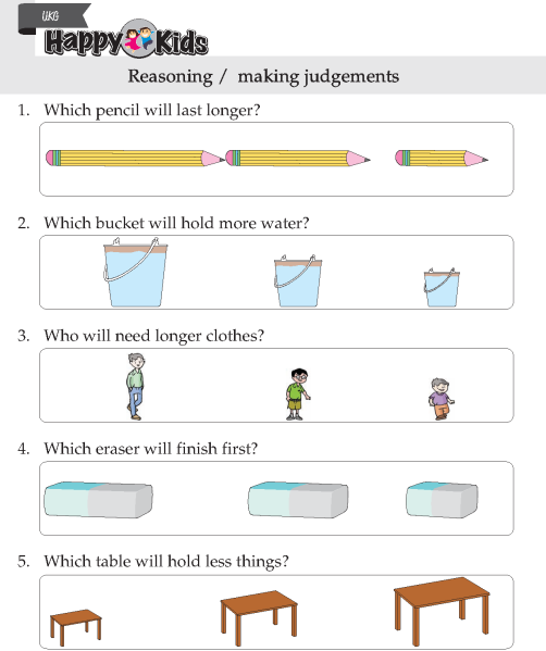 Kindergarten Skill Reasoning / Making Judgements