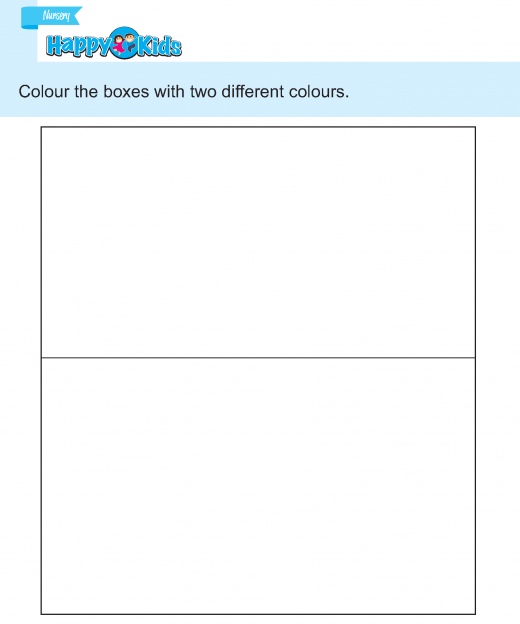 Preschool Skill Colour The Boxes