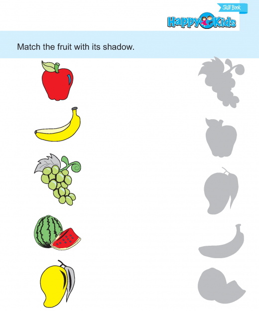 Preschool Skill Match The Picture With Same Shadow
