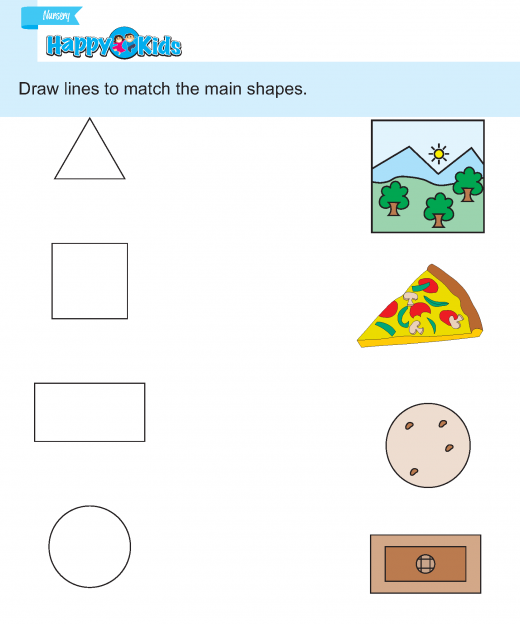 Preschool Skill Match The Same Shape