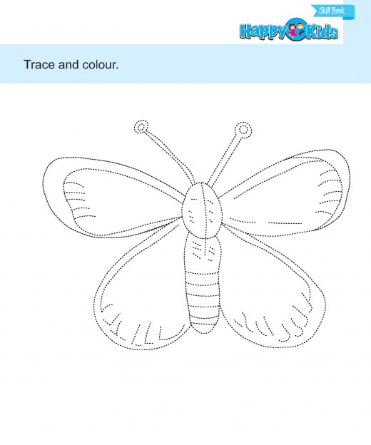 Preschool Skill Trace and Colour The Pictures