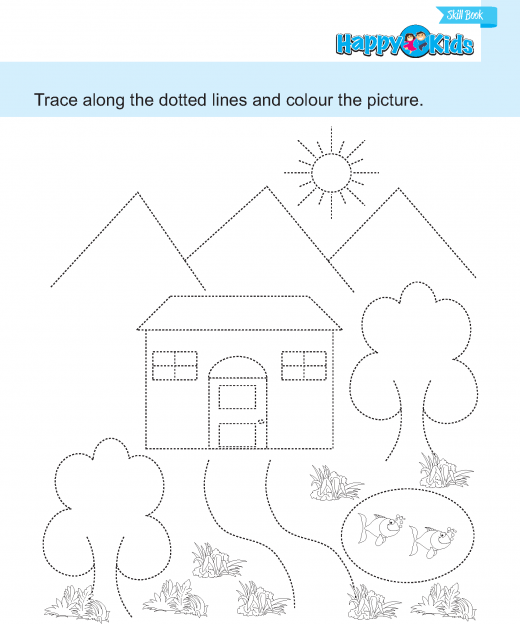 prewriting  (67) tracing and colouring 19